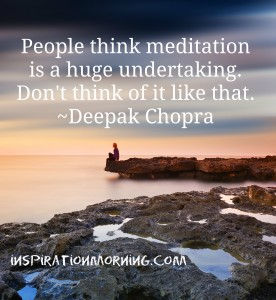 Meditation is Good for Us!