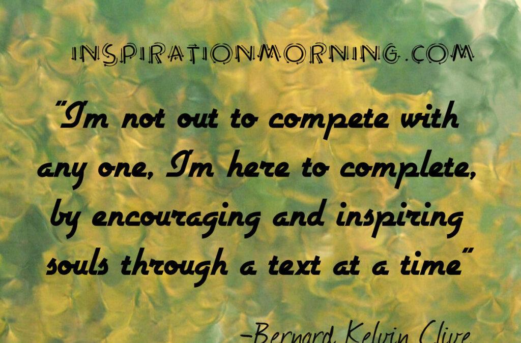 Morning Inspiration May 31, 2016