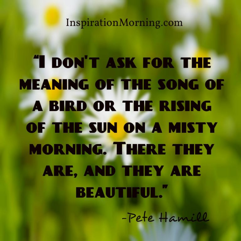 Morning Inspiration March 10, 2017