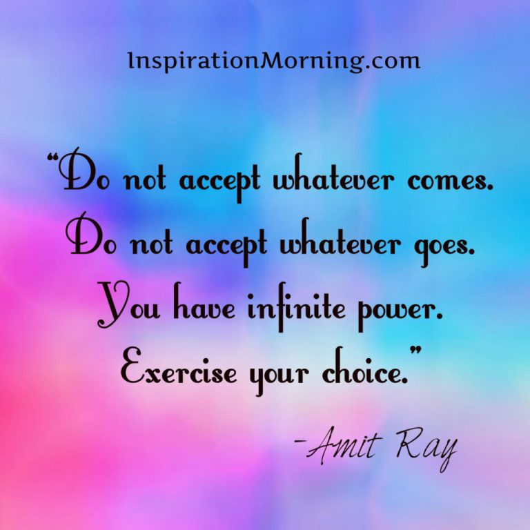 Morning Inspiration March 12, 2017