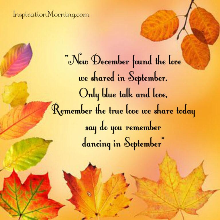 Morning Inspiration September 21, 2017